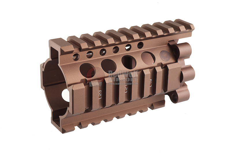Madbull Daniel Defense 4 inch Rail Kit ( RIS Unit / Outer & Inner Barrel) (Dark Earth)