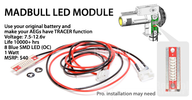 Madbull LED Module for Ultimate 3-in-1 Hop Up Chamber (sold separately)