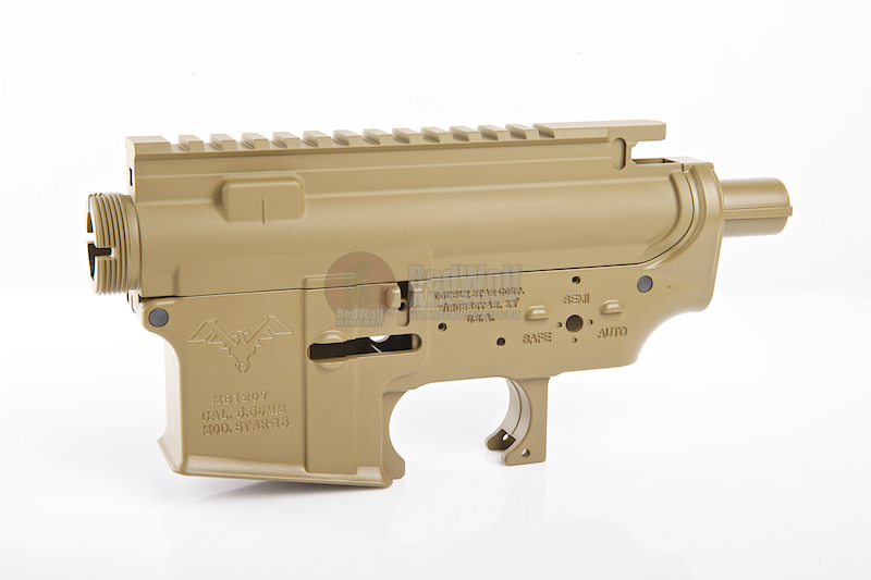 Madbull M4 Metal Body Ver.2 w/ Self Retaining Pins & Shortened Stock Tube (Double Star Marking) - FDE
