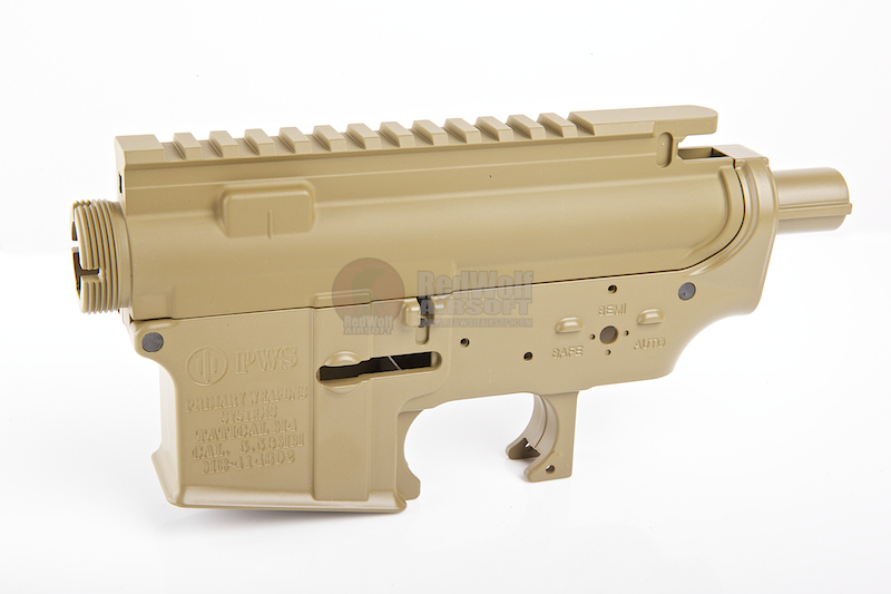 Madbull M4 Metal Body Ver.2 w/ Self Retaining Pins & Shortened Stock Tube (PWS Marking) - FDE