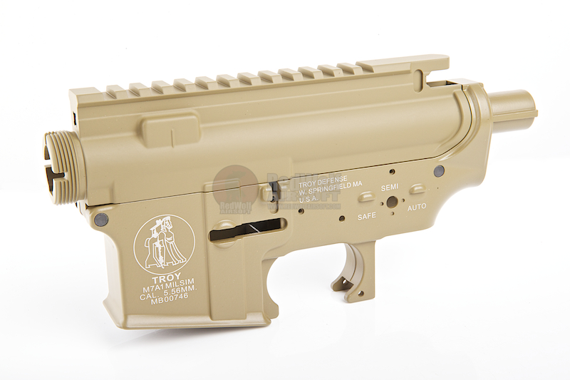 Madbull M4 Metal Body Ver.2 w/ Self Retaining Pins & Shortened Stock Tube (Troy Marking) - FDE