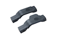 Strike Industries COBRA Straight/Right Polymer Trigger Guard Combo-2 Pack (Black)