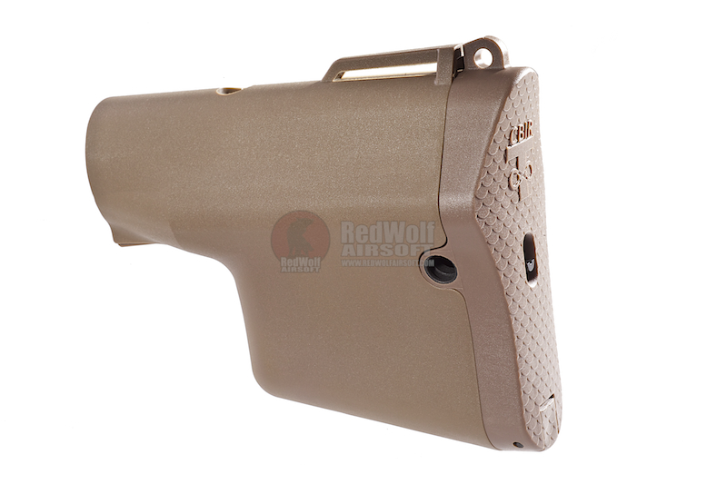 Madbull Troy Battle Ax M4 Buttstock w/ Silver Wire core - TAN