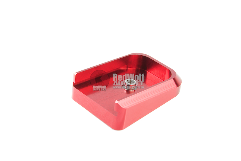 Airsoft Masterpiece Aluminum Magazine Base For Tokyo Marui Hi-Capa 5.1 GBB Pistol - Red