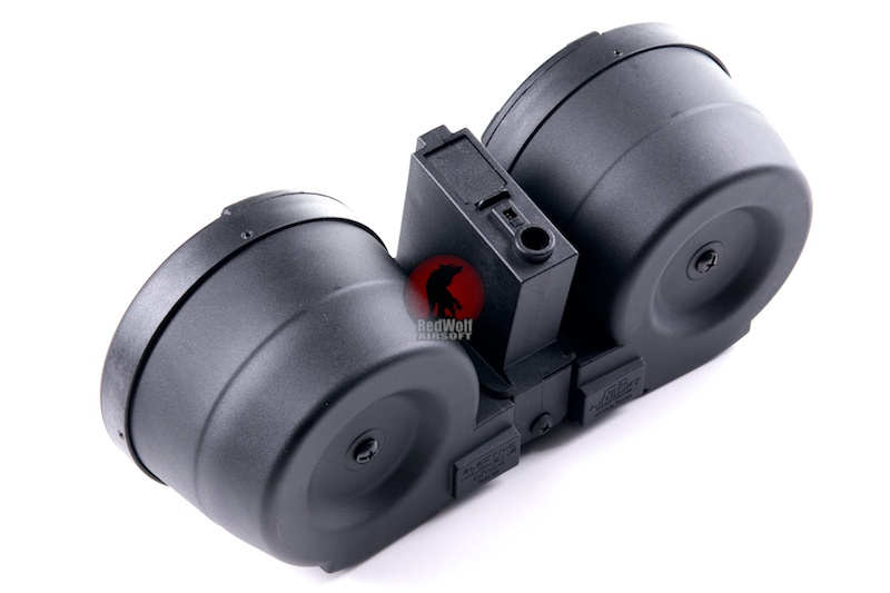 ICS Adaptive Drum Magazine w/ M4 Magazine Adapter - BK