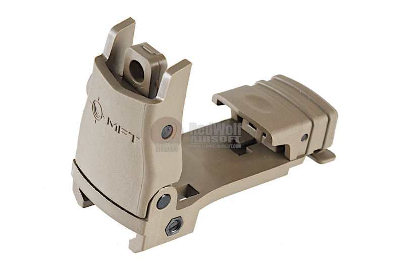 MFT Back Up Polymer Flip Up Rear Sight w/ Windage Adjustment - SDE