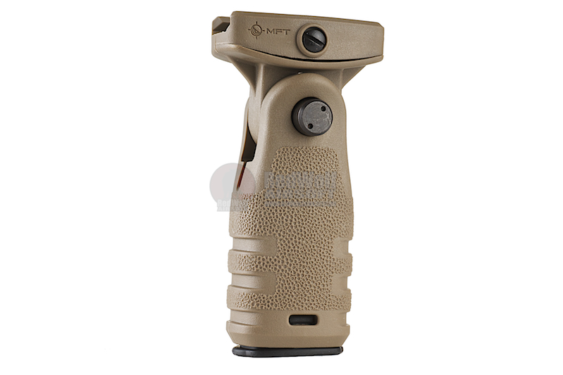 MFT React Folding Grip (RFG). Allows either vertical or horizontal position - FDE