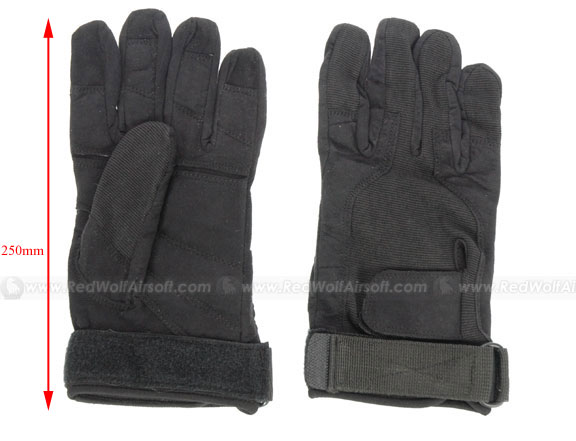 Milspex Full Finger SOS Gloves Black (XL) <font color=yellow>(Clearance)</font>