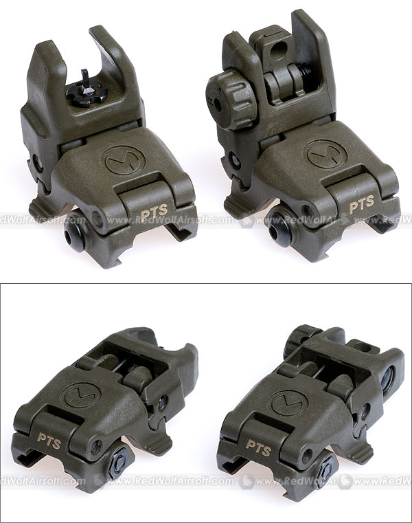 Magpul PTS Back-Up Sight (MBUS) (OD) - Export Only