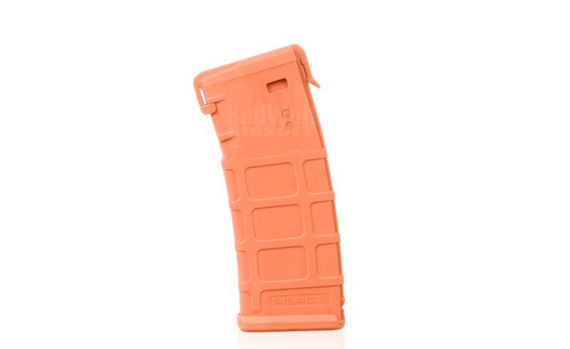 Magpul PTS Pmag M Version Magazine (Law Enforcement Training)  (Mid Cap 120 Rounds) Orange Color