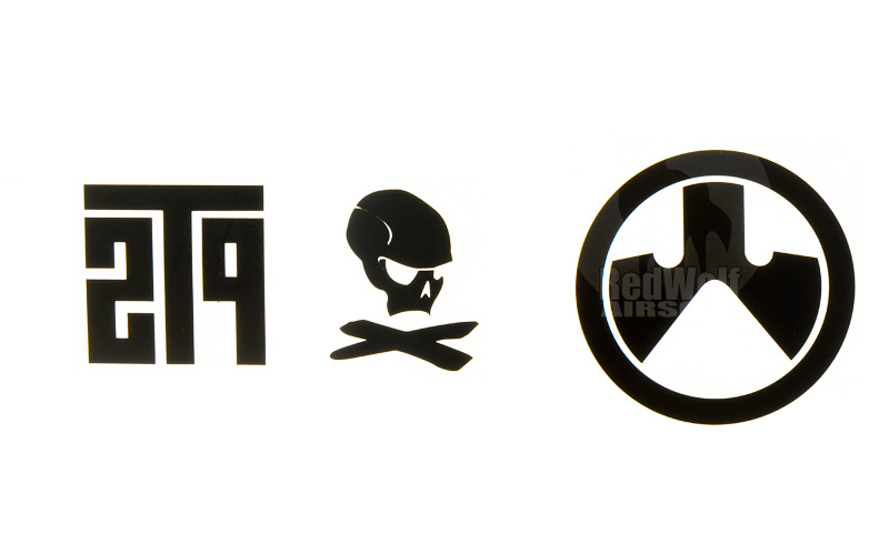 Magpul PTS Logo Vinyl Cut Sticker Pack (Black)