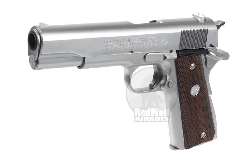 Marushin Government MK4 1911 Model gun - Silver Heavy Weight