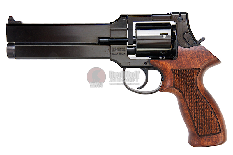 Marushin Mateba Revolver 6mm X-Cartridge Series W Deep Black Wood Grip Version