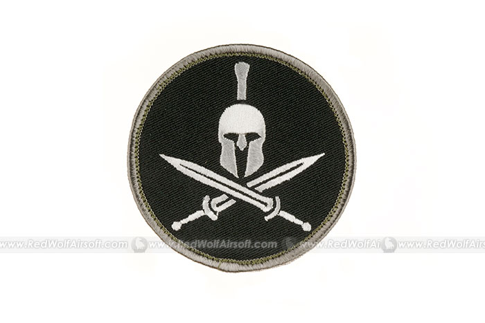 MSM Spartan Helmet and Crossed Gladius Patch (SWAT)