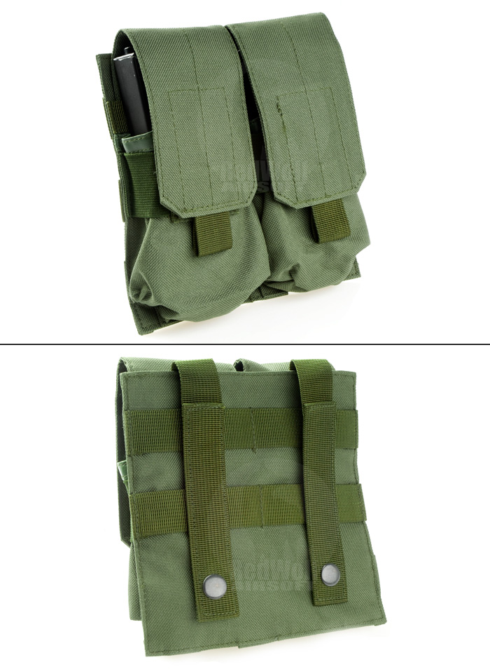 Milspex MOLLE Double Double-Stacked M4 Mag Pouch (OD)