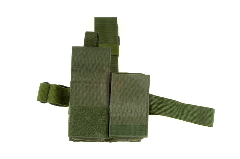 Milspex Dropleg Double M4 Mag Pouch (OD)  <font color=red>(HOLIDAY SALE)</font>