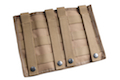 Milspex MOLLE Triple Double-Stacked M4 Mag Pouch w/ Triple Pistol Pouch (Tan)