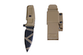 TSC MAD WARRIOR Shrapnel Desert Warfare Dummy Pattern Knife (Tan)