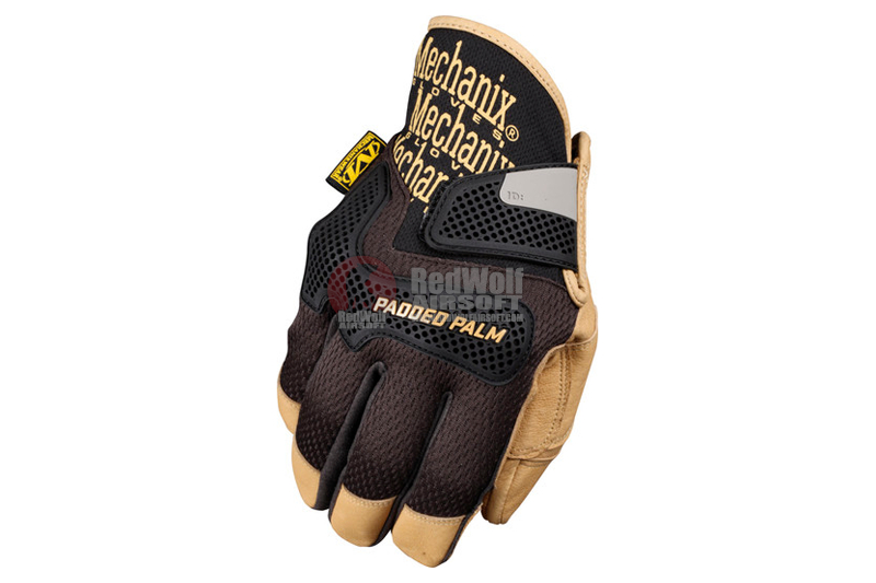 Mechanix Wear Gloves CG Padded Palm (Black / Leather / L Size)