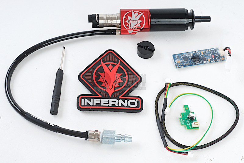 Wolverine Airsoft HPA Systems GEN 2 INFERNO AK Cylinder with Premium Edition Electronics and Bluetooth FCU for Version 3 AK Gearbox