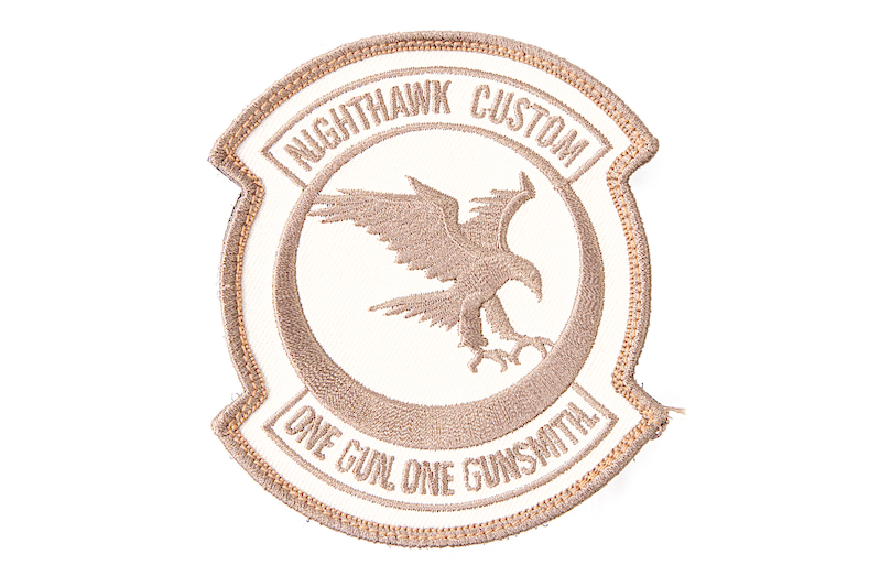 Nighthawk Custom Embroidered Patch - Tan (A113)