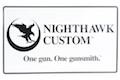 Nighthawk Custom Metal Sign (W: 24 inch x H: 18 inch) Thickness: 0.02 inch (A165)