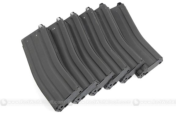 Systema 120 Rds HW Magazine for PTW M4 / M16 (6pcs Pack)
