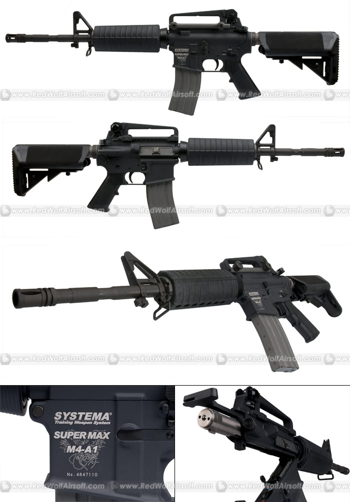 Systema PTW Professional Training Weapon M4A1 SUPER MAX (Collapsible Stock Version) (M165 Cylinder) <font color=red>(Free Shipping Deal)</font>