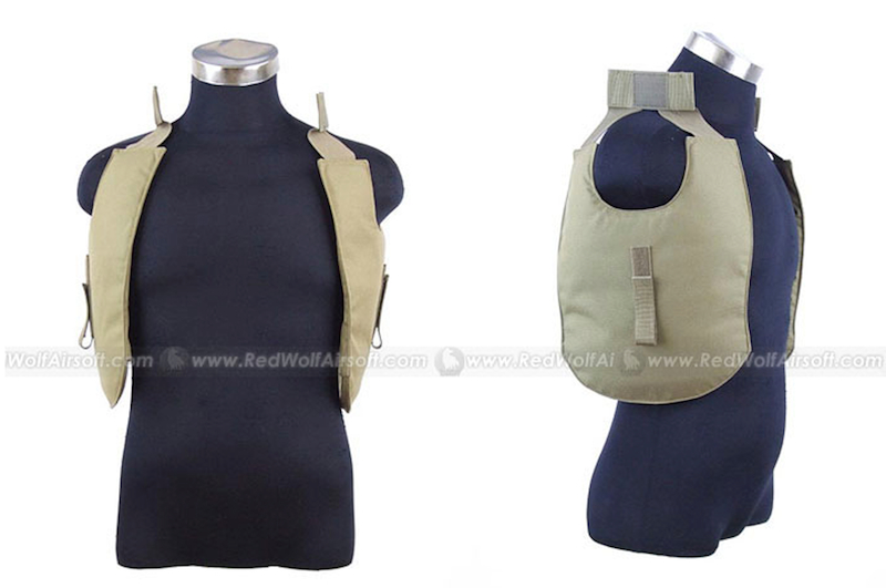 PANTAC Outer Tactical Vest Under Arm Pads (Khaki, Cordura)