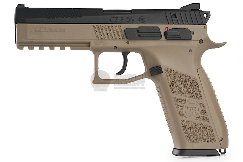 KJ Works CZ P-09 Duty (ASG Licensed) CO2 Version - TAN