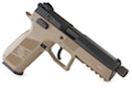 KJ Works CZ P-09 Duty (ASG Licensed) with 14mm CCW Thread Barrel - CO2 Version (TAN)