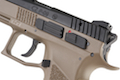 KJ Works CZ P-09 Duty (ASG Licensed) with 13mm CCW Thread - CO2 Version (TAN)