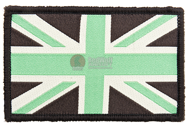 GK Tactical British Army Style Union Jack Patch - Brown w/ Green