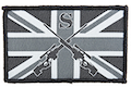 GK Tactical British Army Style Sniper Patch - Black w/ Grey