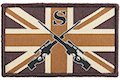 GK Tactical British Army Style Sniper Patch - Brown