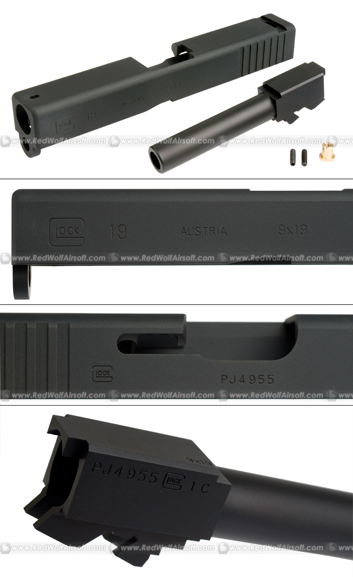 PGC Aluminum Slide for KSC G19 (Black)