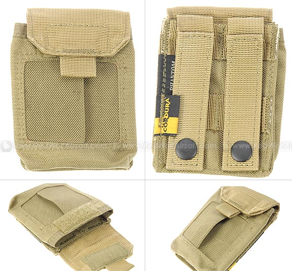PANTAC Molle Medical Hand Pouch (Khaki / CORDURA) <font color=yellow>(Clearance)</font>