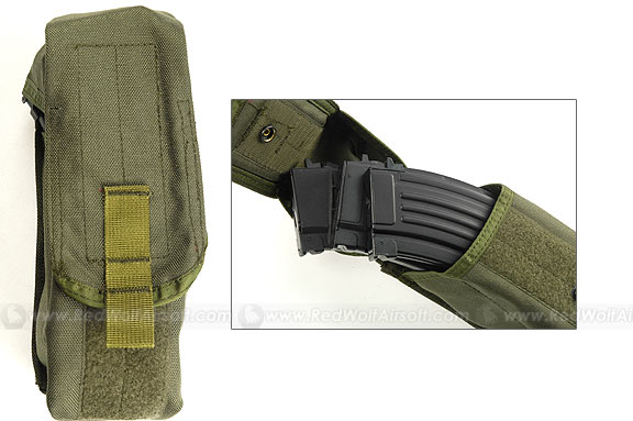 PANTAC Molle Single AK Pouch (OD) <font color='red'>(Blowout Sale)</font>