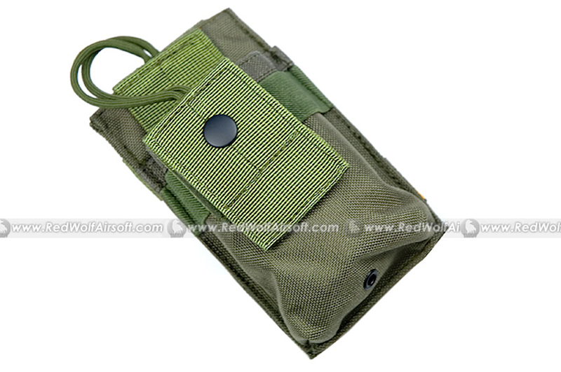 PANTAC Molle Short Radio Pouch (OD / CORDURA)