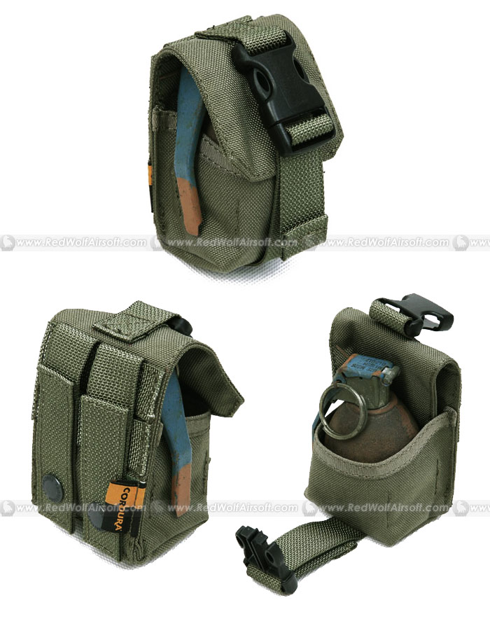 PANTAC Single Fragmention Grenade Pouch (RG / CORDURA)