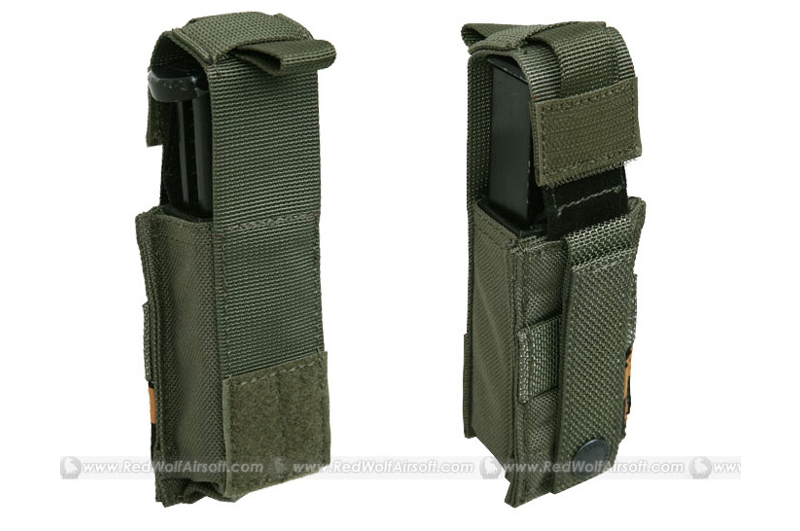 PANTAC Molle 9mm Pistol Mag Pouch with Hard Insert (RG / Cordura)
