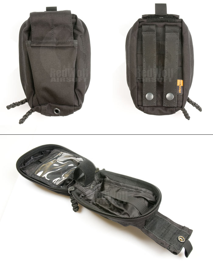 Pantac Spec Ops Series MOLLE Small Medical Pouch (Black / Cordura)