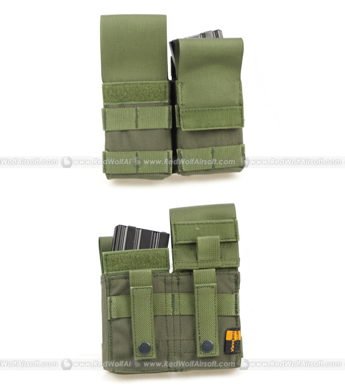PANTAC Double M4 / M16 Magazine Pouch with Plastic Inserts (OD / CORDURA)