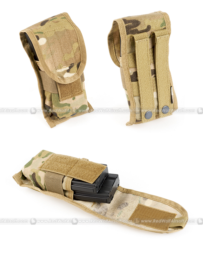 PANTAC SDS Molle Single M16 Double Mag Pouch (Crye Precision Multicam, Cordura)