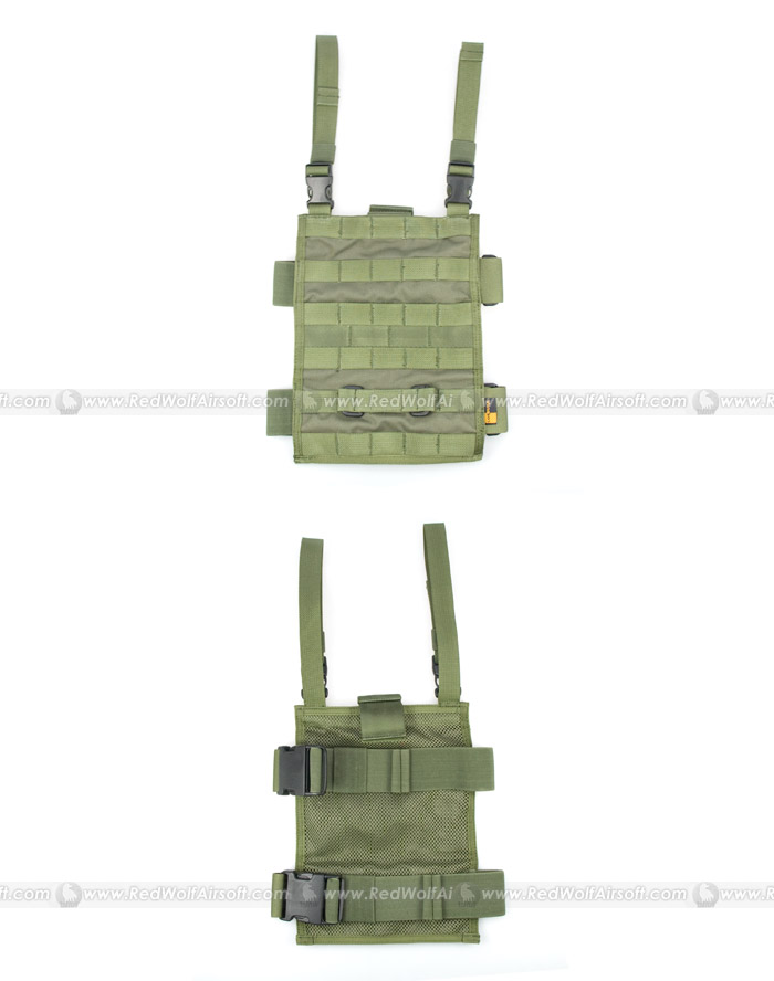 PANTAC MOLLE Upright Drop Leg Panel (OD / CORDURA)
