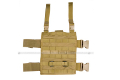 Pantac MOLLE Upright Drop Leg Panel (Khaki / Cordura)