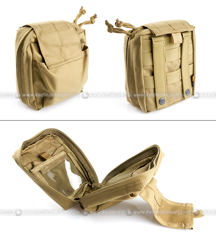 PANTAC Molle SpecOps Medical Pouch Medium (Khaki, Cordura)