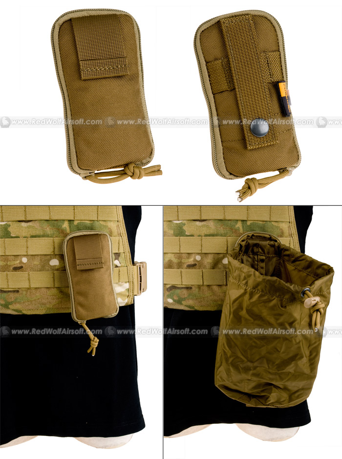PANTAC Molle Stealth Drop Pouch Small (CB / Cordura)