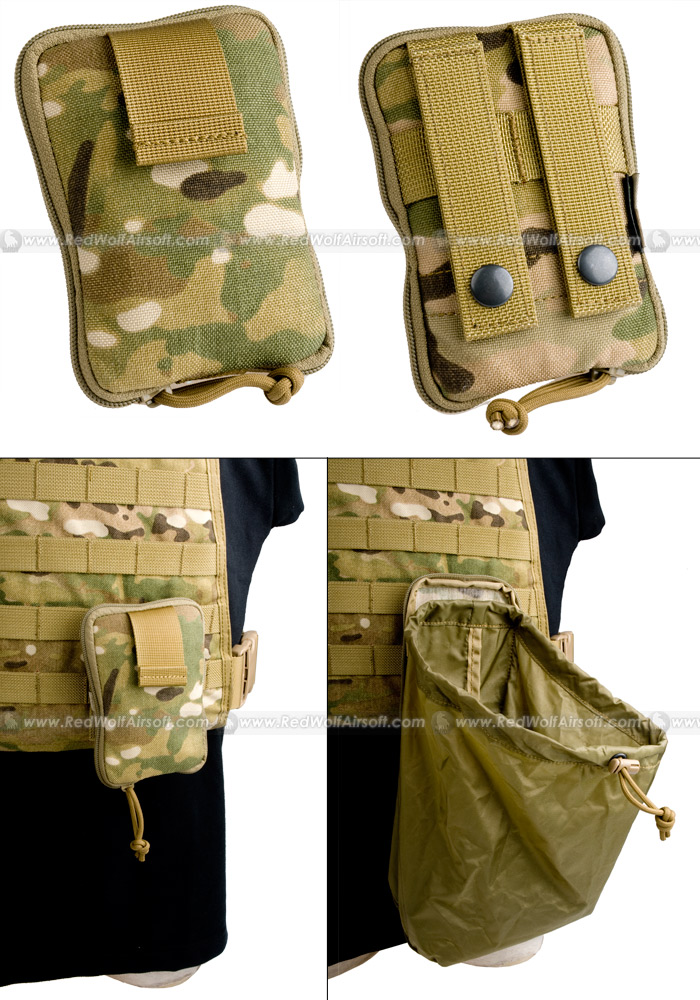 PANTAC Molle Stealth Drop Pouch Medium (Crye Precision Multicam / Cordura)