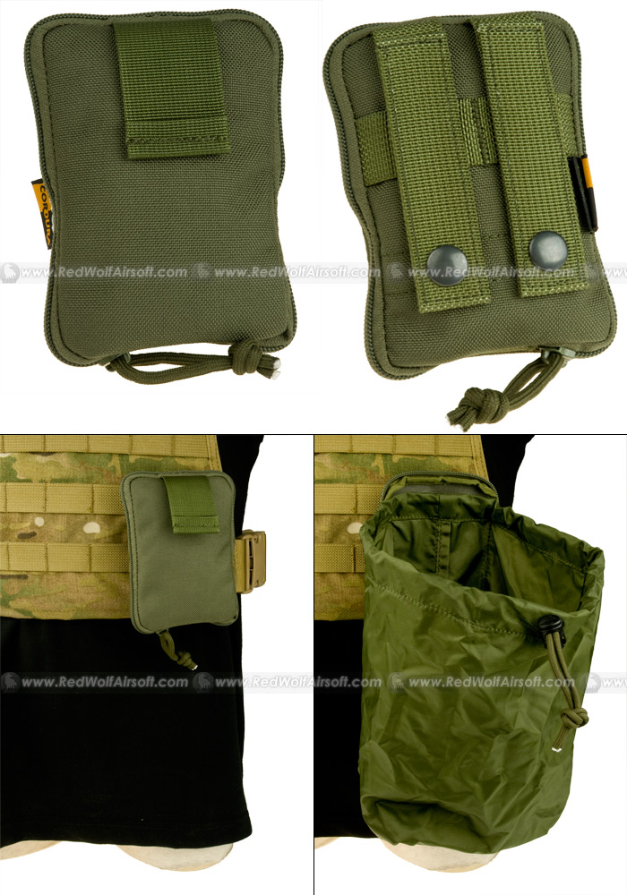 PANTAC Molle Stealth Drop Pouch Medium (OD / Cordura)